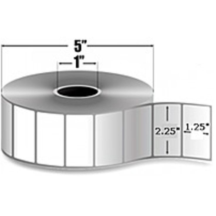 Zebra Trans Matte 2000 800272-125 Thermal Matte Label - 25200 Label - Bright White - 12 Pack