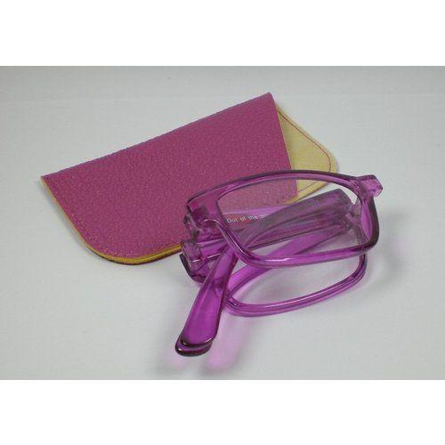 N N Faltbare Lesebrille +1,5 Diop. Lesehilfe unisex Kunststoff Sehhilfe mit Etui lila Ersatzbrille