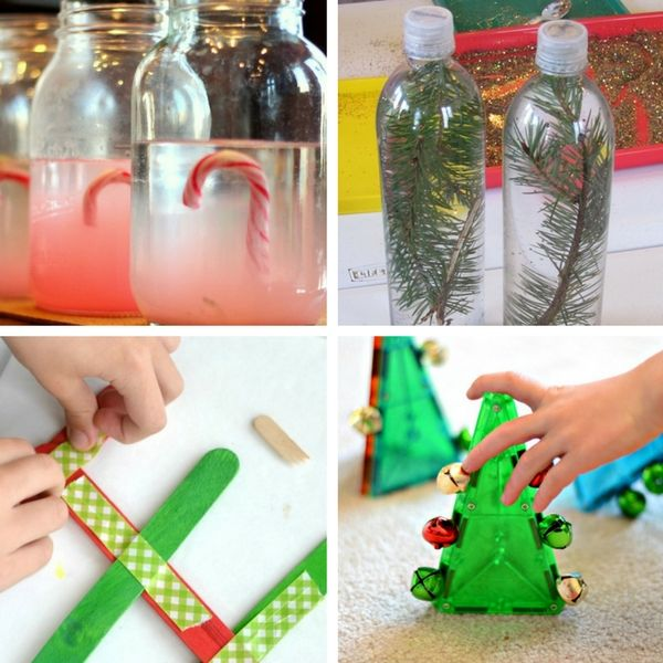 Christmas science experiments and activities for preschoolers!