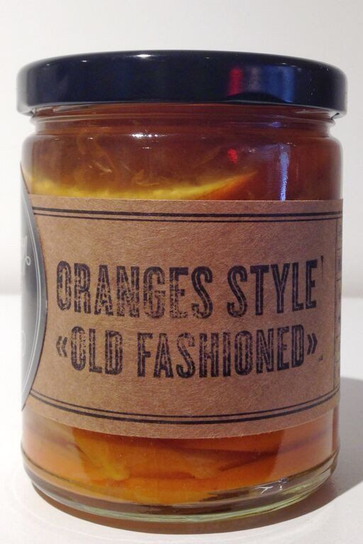 Preservation Society Oranges Style Old Fashioned are preserved with Aperol.