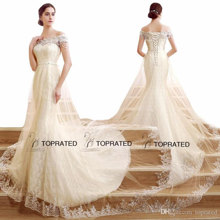 2017 New Mermaid Wedding Dresses Bridal Gown With Real Image Off Shoulder Beads Crystals Pearls Ivory