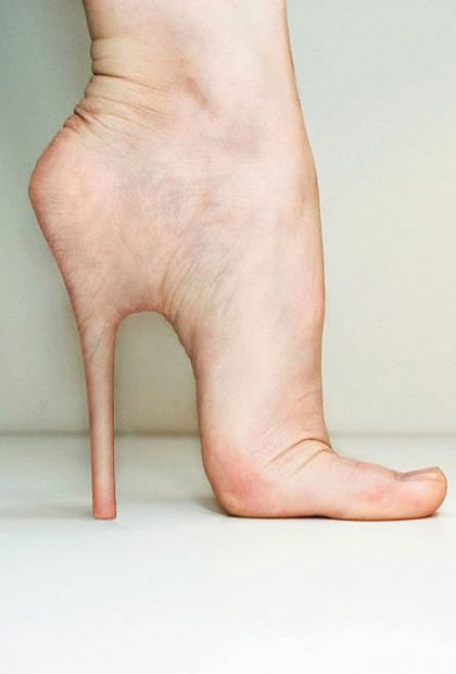 Fugly → flesh high heels #photoshop // pinned by @Patrick Welker