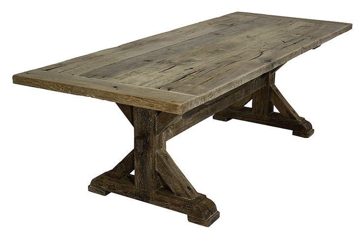 French Oak Trestle Table Farmhouse Tables