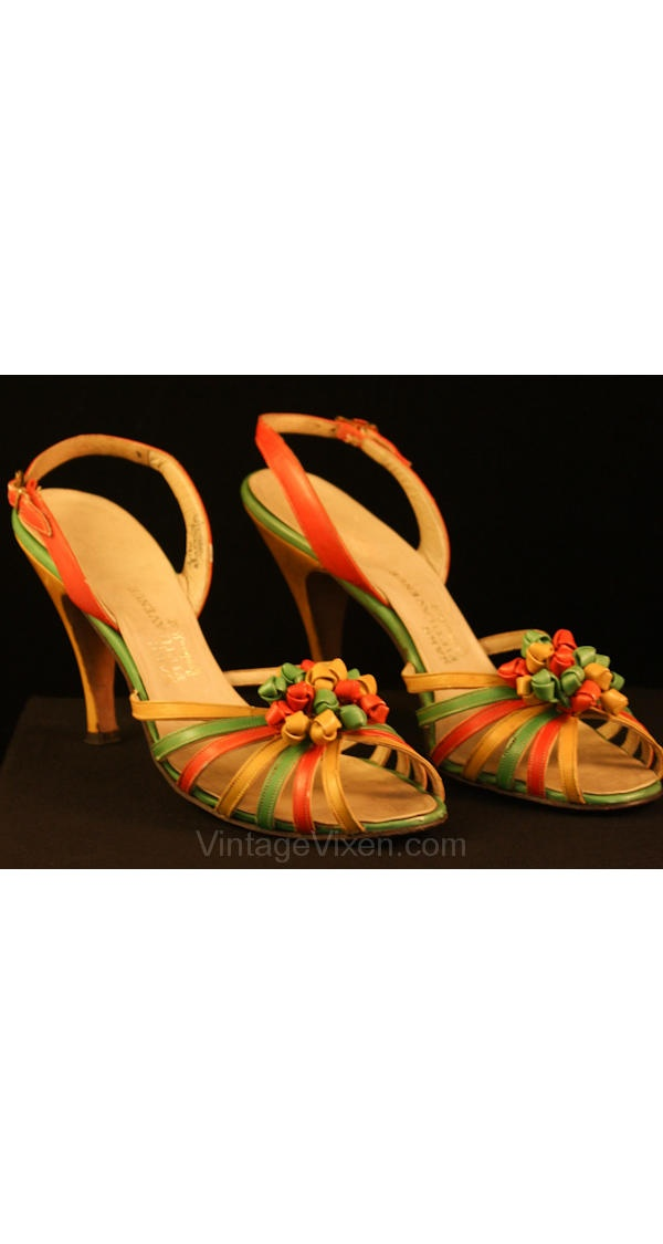 Subtly suggestive of Carmen Miranda, for the days you just can't do platforms.
