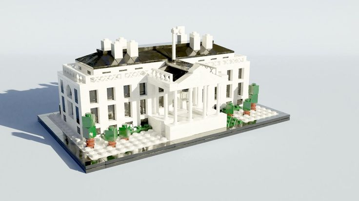 https://flic.kr/p/VQr5oh | 21006 The White House | I was looking for some LEGO models to render and, given the 4th of July Holiday, I choose the White House. I'd previously rendered it using POV-Ray, but this time I used Mecabricks and Blender. It wasn't as easy I'd hoped, but I think the final version came out quite nice.