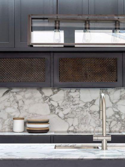 Arrabescato Vagli Marble Details Kitchen Splashback
