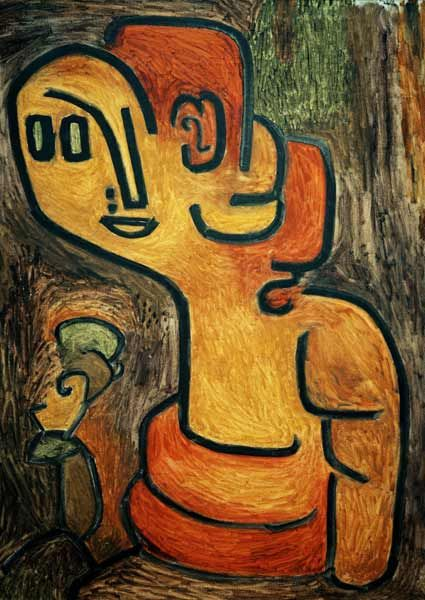 Titre de l'image : Paul Klee - Brustbild der Gaia, 1939, 343 (Y 3).