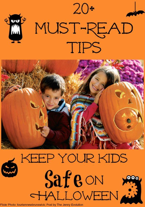 20 Must-Read Tips: Keep Your Kids Safe on Halloween | The Jenny Evolution. Get loads more #Halloween ideas at www.thejennyevolution.com