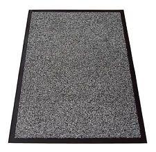 монохромный хлопок большие нескользящие барьер входа офис дверь пол коврик 100x150cm
