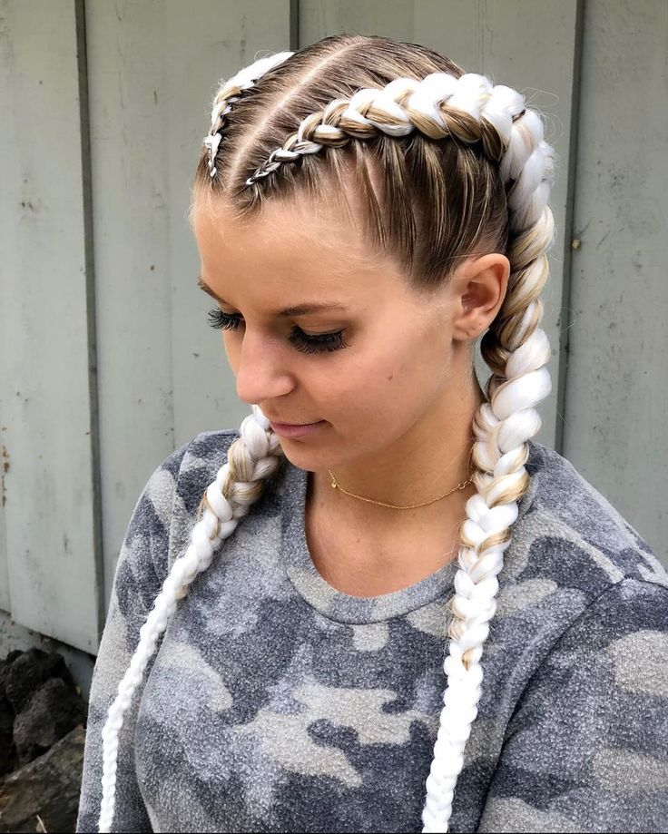 Pin by † on Fashion in 2021 | White girl braids, Braids with weave, White girl hair styles