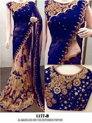 Indian Bollywood New Designer Saree Wedding Party wear Pakistani Lehenga Sari 5