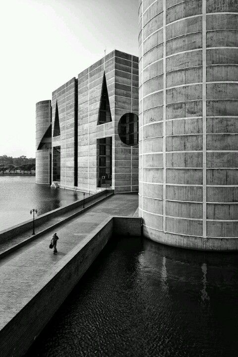 NATIONAL ASSEMBLY BUILDING OF BANGLADESH   SHER-E-BANGLA NAGAR   DHAKA   BANGLADESH: *Built: 1961-1982; Designed By: Louis Kahn*