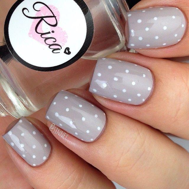 76 best Nail Art: Polka dot nails images on Pinterest | Polka dot ...