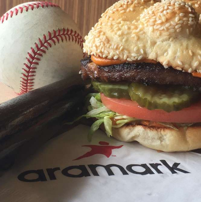 PNC PARK: ULTIMATE VEGAN BURGER  -    Vegan food doesn't have to be dry and flavorless anymore. This Big Mac-inspired burger from PNC Park will reward vegan fans with a sumptuous meatless patty slathered in special sauce, topped with bread and butter pickles, tomatoes, and lettuce.