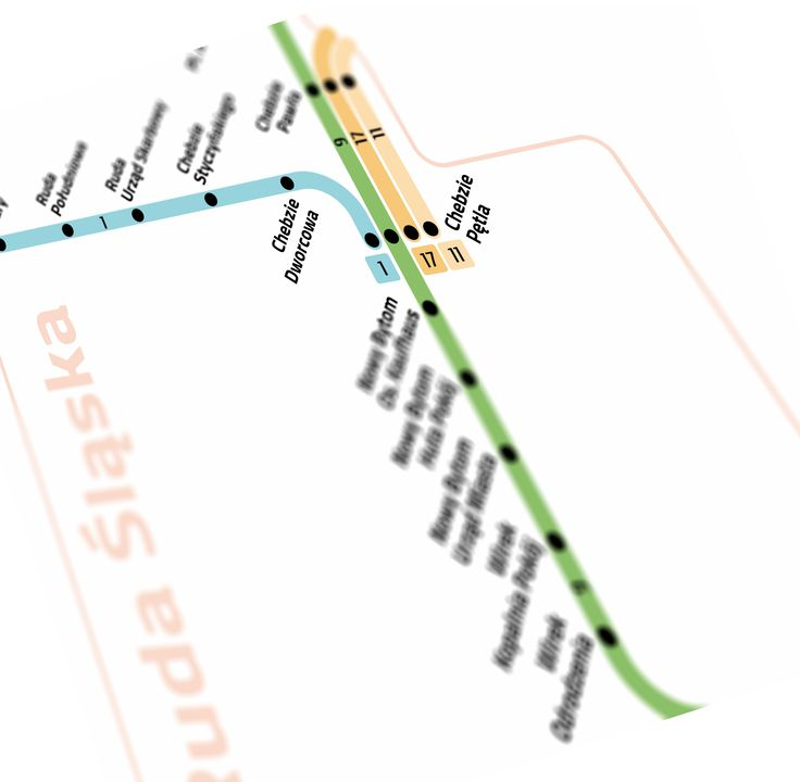 Tram lines in Ruda Śląska