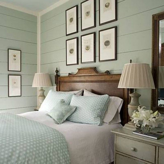 Love the soothing pale greens, very calming romantic bedroom #decor #home #romantic