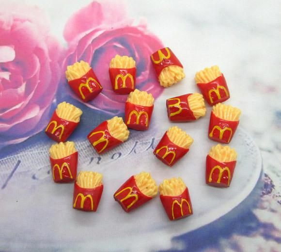 DHgate.com is an online wholesale seller, providing many kinds of  Free Shipping 20Pcs Resin Mcdonald's Chips Flatback Cabochon Scrapbooking Craft at cheap price, best quality and 7/24 online service.