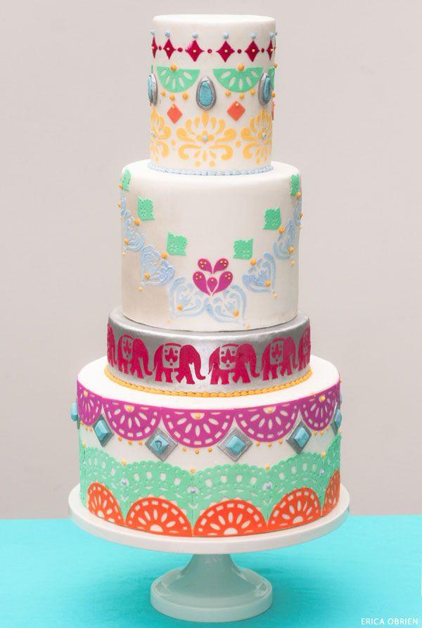 Boho Chic Cake   translating trends into cake designs   by Erica OBrien for TheCakeBlog.com