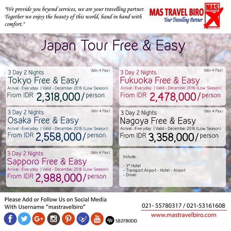 Tour di Jepang Mulai Dari Rp 2.318.000/Orang , Mau ? Pesan Sekarang !! ;) #mastravelbiro #tour #japan