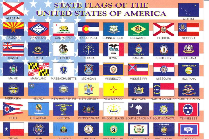 state flags us