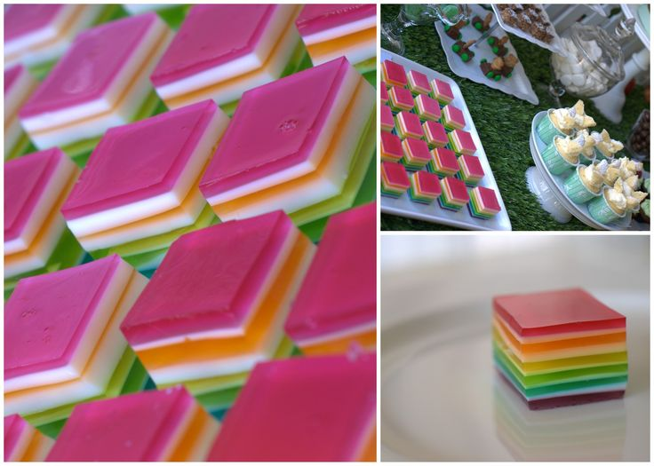 Rainbow Jelly Square Delights | Recipe | Play and Go