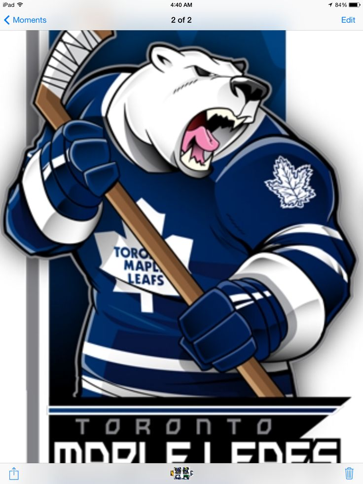 A Cartoon version of Carton the Toronto Maple Leafs Mascot