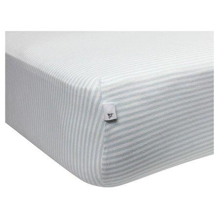 Burt's Bees Baby™ Organic Bee Essentials Stripe Fitted Crib Sheet : Target