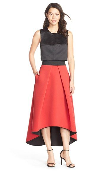 Milly Crop Top & Ball Skirt available at #Nordstrom