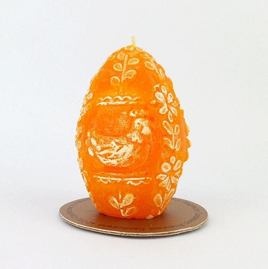 Świeca zapachowa Jajko - Pisanka Wielkanocna Pomarańczowa