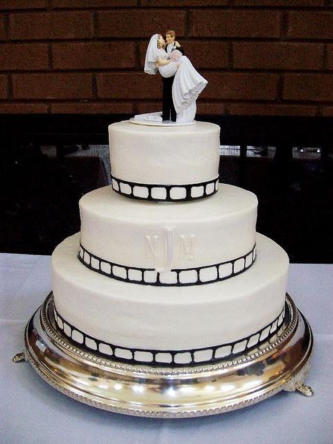 film strip wedding cake
