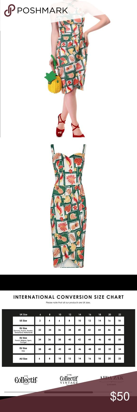 Collectif Tropical Sarong Bamboo Dress Never worn. Tags still attached.. UK size…