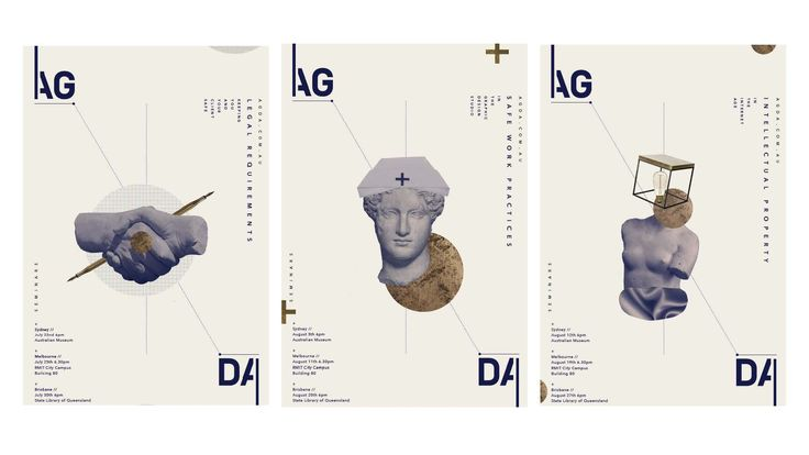 CATC students were asked to produce a series of posters for upcoming AGDA seminars.