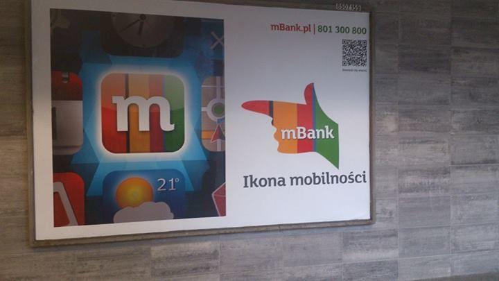 Reklamy Mbanku wczoraj widział mój znajomy, dziś rano ja. Nawet w metrze. Kto ma konto w Mbanku polecam wypróbować ich aplikacje, z pewnością się przyda.:) #alikacjamBanku https://www.facebook.com/photo.php?fbid=743325189045423&set=o.145945315936&type=1