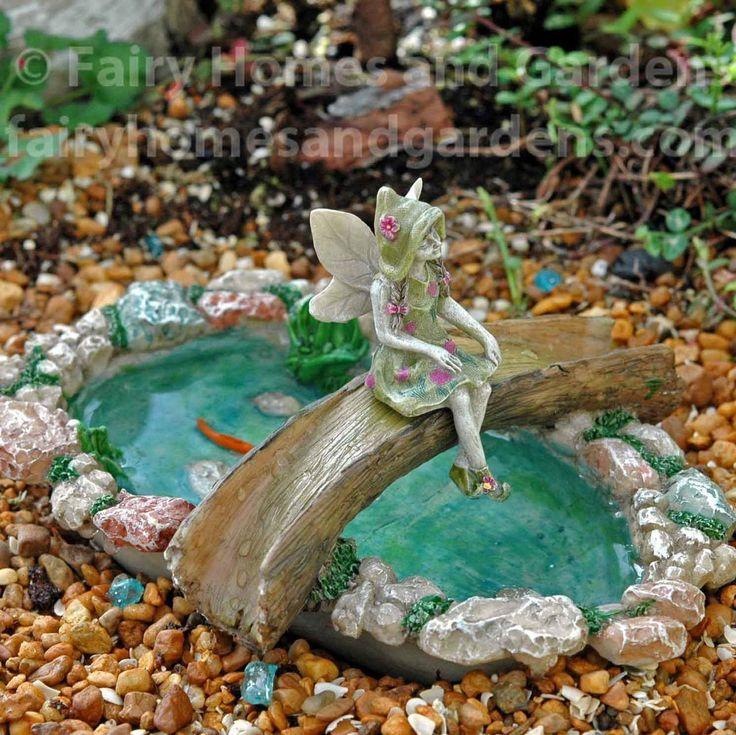 Fairy Homes and Gardens - Tree Bridge Fairy Pond, $13.99 (https://www.fairyhomesandgardens.com/tree-bridge-fairy-pond/) #Ponds