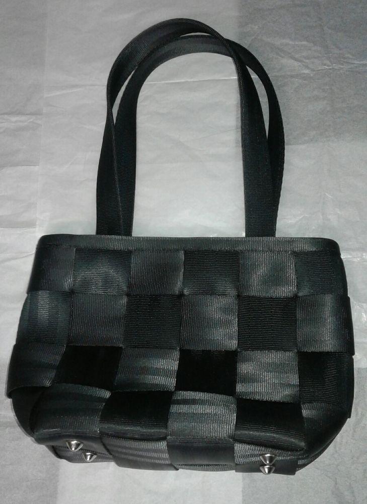 Harvey's Original Seatbelt Bag Purse Tote Satchel Handbag Zipper Closure Black #Harveys #Satchel