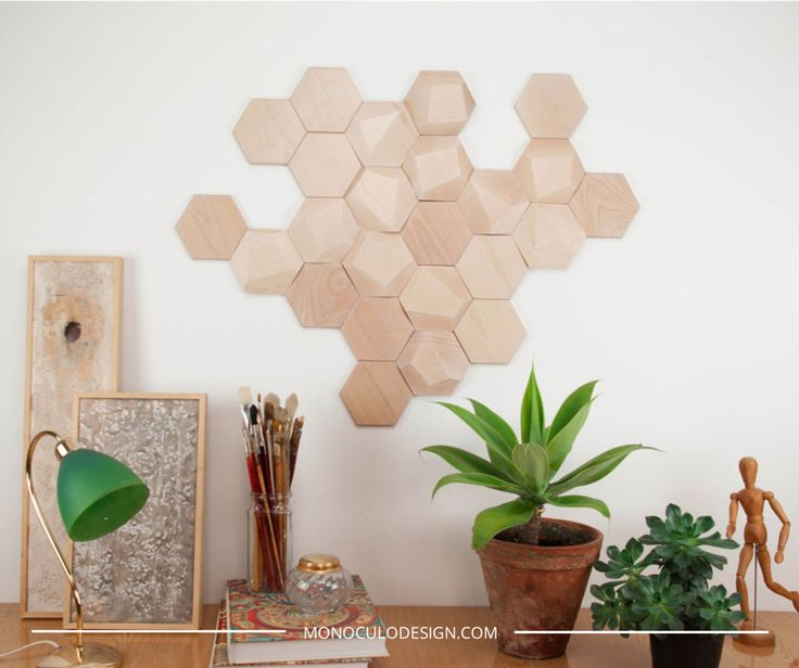 Bee apis m dulos lisos de madera para decoraci n de pared - Paredes de madera decoracion ...