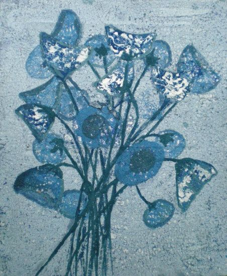 Nicole van Kalmhout Blauwe bloemen