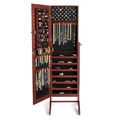 This is actually a full length mirror, that open and the inside is a jewelry organizer, cloe it up and you have a full length mirror!!!!! Pretty cool