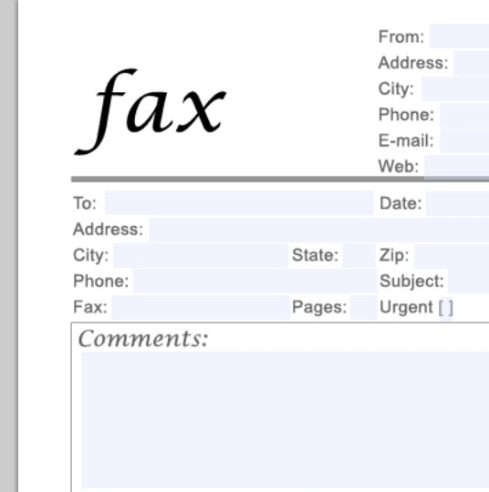 fax transmittal cover sheet