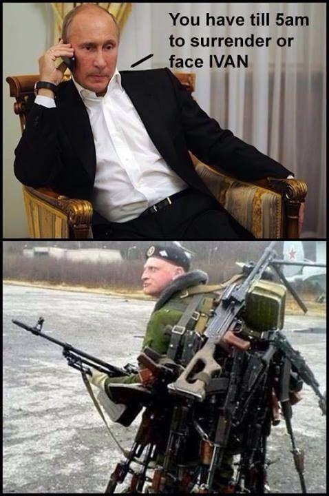 "CAPTION THIS!...... ""Putin: 'From Russia With Love, Comrade' #MilitaryDICKtatorHumor"