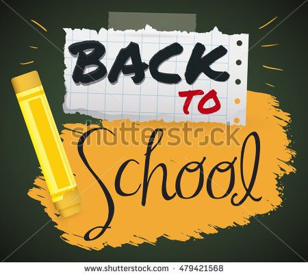 Design with a tear paper and a yellow crayon to use in this Back to School new…