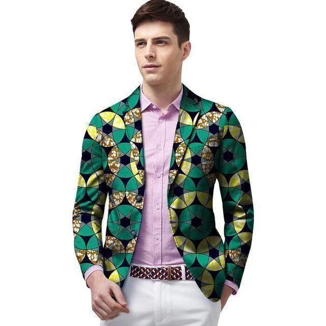 African Blazers For Men, Kitenge Dashiki Blazers, Casual Blazer