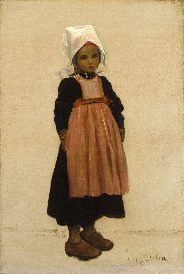 Petite Bretonne by Jules Breton (French, 1827 - 1906)
