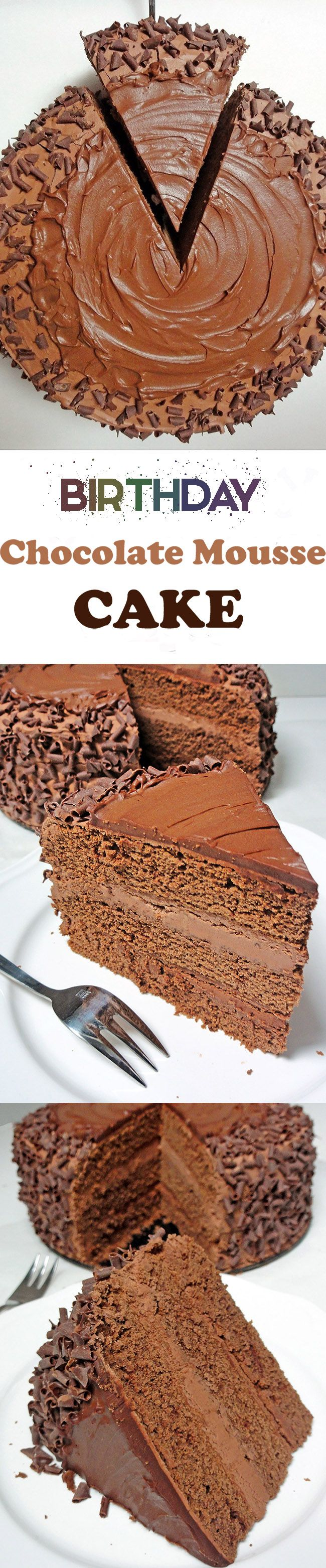 Celebration Chocolate Mousse Cake is one of the most decadent chocolate cakes ever. Get this delicious and easy-to-follow Chocolate Cake recipe. Pure chocolate pleasure.