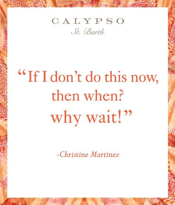When you know what you want, don't wait!
