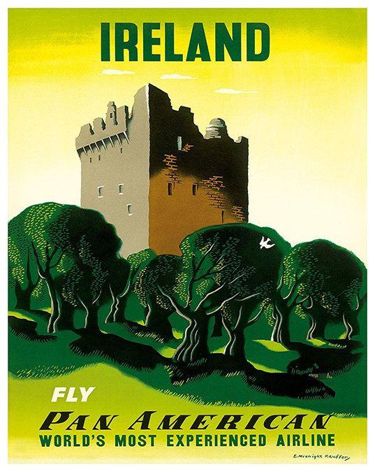 Ierland reizen Art teken muur Decor Ierse Poster door Blivingstons