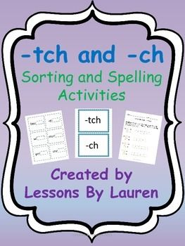 Printables List Of Words With Tch 1000 images about lessons by lauren on pinterest activities have your students practice spelling words with tch and ch these are great