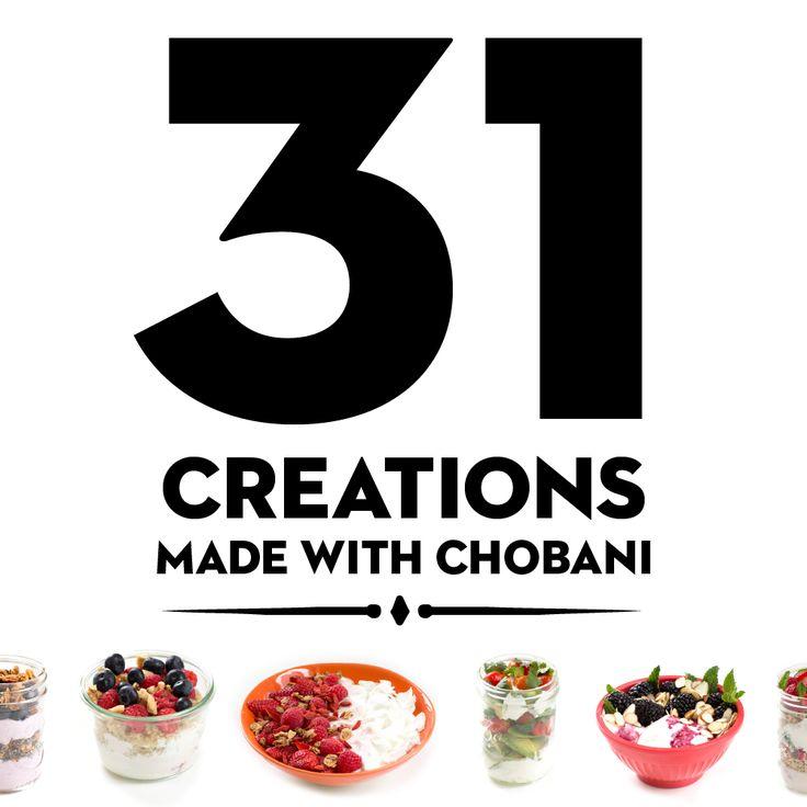 31 Creations Made with Chobani Greek Yogurt