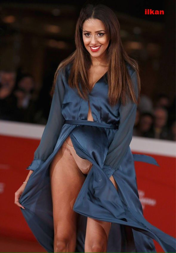 zaina dridi (Italian Actress) showing how to walk on the red carpet