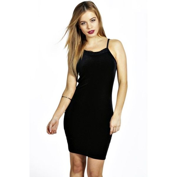 Boohoo Petite Petite Bella Strappy Lace Velvet Bodycon Dress ($30) ❤ liked on Polyvore featuring dresses, black, black cocktail dresses, lace cocktail dress, black velvet dress, petite cocktail dress and black dress